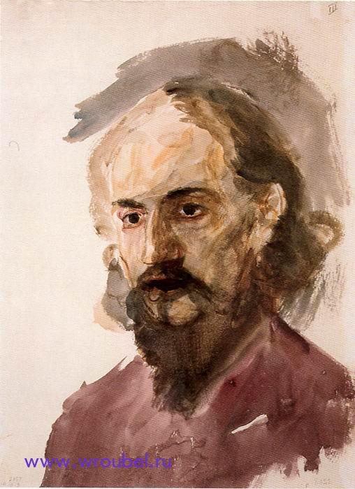 """1883 Врубель М.А. """"Мужской портрет."""""""