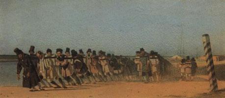 Бурлаки на Волге (В.В. Верещагин)