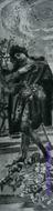 Врубель М.А. Фауст и Маргарита в саду. 1896. Два однофигурных эскиза декоративного панно для готического кабинета в доме А.В. Морозова в Москве