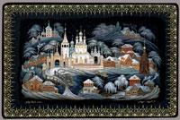 Первый снег (В.Н. Седов, холуйская миниатюра)