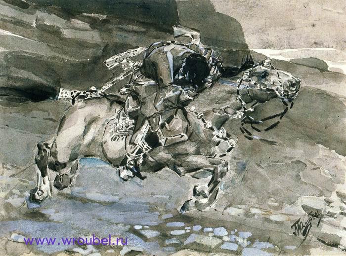 """1890 Врубель М.А. """"Несется конь быстрее лани..."""""""