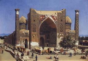 Медресе Шир-Дор (В.В. Верещагин, 1869-1870 г.)