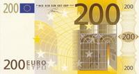 Лицевая сторона банкноты в 200 Евро
