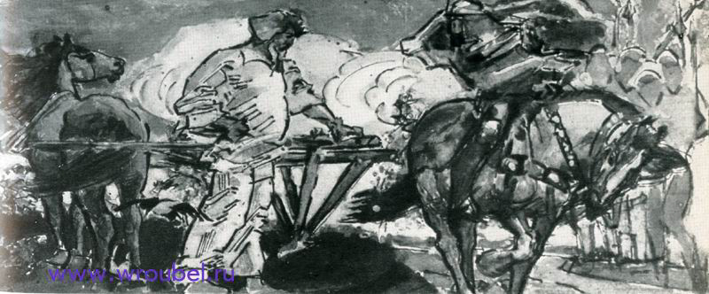 """1896 Врубель М.А. """"Микула Селянинович. """""""