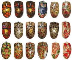 Хохломская роспись на компьтерных мышках