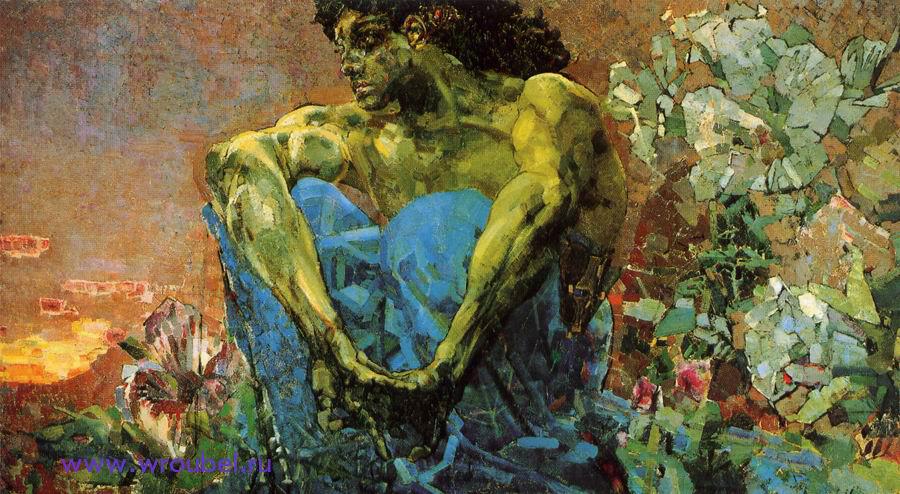 """1890 Врубель М.А. """"Демон сидящий."""""""
