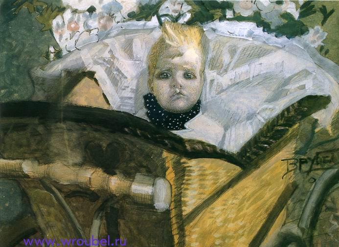 """1892 Врубель М.А. """"Портрет сына художника."""""""
