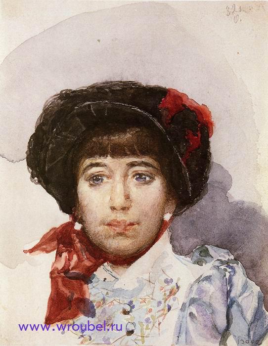 """1882 Врубель М.А. """"Портрет З.А. Штукенберг."""""""