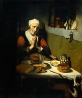Молящаяся старая женщина (Н. Маес)