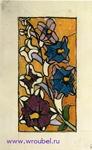 Врубель М.А. Эскиз для витража. Дельфиниум. 1895-1896. Бумага, акварель, граф. карандаш. 30,9х18,9. ГРМ