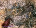 Врубель М.А. Ворон (Фантазия на тему стихотворения Э. По Ворон). 1905. Картон, акварель, пастель, угольный и графитный карандаши. 25,5х32,2. ГРМ