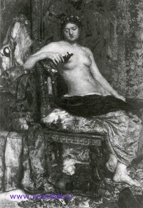 """1883 Врубель М.А. """"Натурщица в обстановке Ренессанса."""""""