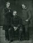 В.А. Серов, М.А. Врубель, В.Д. Дервиз. 1883