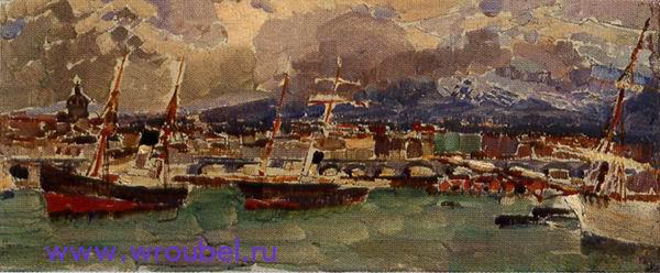 "1894 Врубель М.А. ""Катанья. Сицилия."""