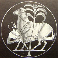 Фрагмент росписи (Одиссей)