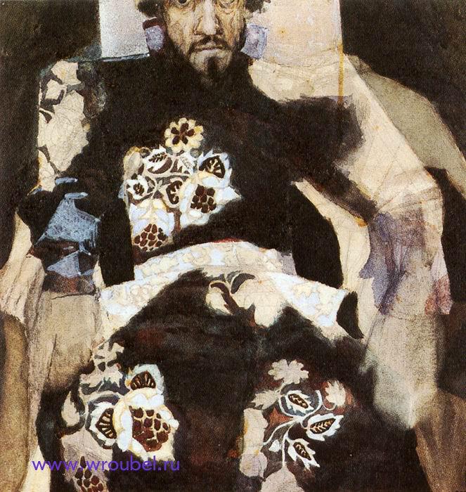 """1886 Врубель М.А. """"Портрет мужчины в старинном костюме."""""""
