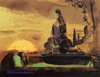 Надгробный плач (эскиз для неосущ. росписи Владимирского собора)