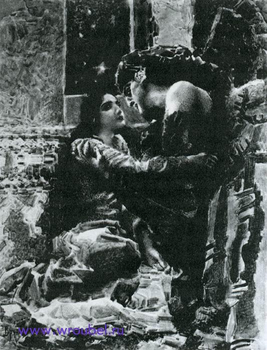 """1891 Врубель М.А. """"Тамара и Демон. """""""