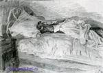 Врубель М.А. Кровать. 1905. Бумага, карандаш. 23х33. ГРМ