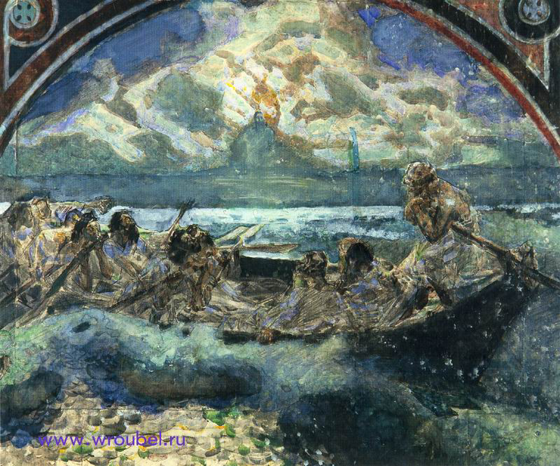 """1890 Врубель М.А. """"Хождение по водам."""""""