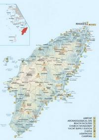 Карта острова Родос