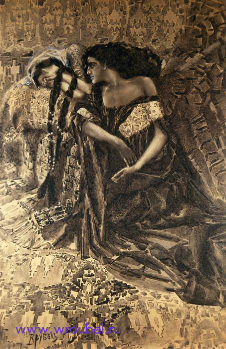 """1891 Врубель М.А. """"Тамара и Демон."""""""