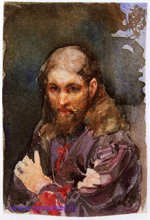 """1885 Врубель М.А. """"Священник в лиловой рясе."""""""