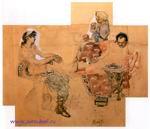 Врубель М.А. Пирующие римляне. 1883. Акварель. ГРМ