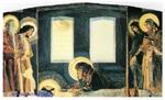 Врубель М.А. Надгробный плач (триптих). Эскиз для неосущ. росписи Владимирского собора в Киеве. 1887. Бумага, акварель.