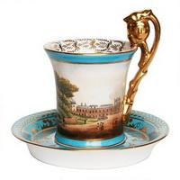 Чашка с блюдцем (севрский фарфор)