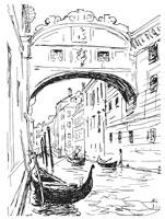 Рисунок Венеции (Н.А. Соколов)
