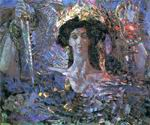Врубель М.А. Шестикрылый серафим (Азраил). 1904. Холст, масло. 131х155. ГРМ