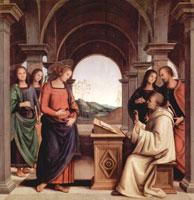 Видение св. Бернарда (П. Перуджино)