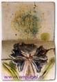 Врубель М.А. Печной изразец с изображением василька. 1890-1900-е. Глина, формовка, рельеф, роспись глазурями трех цветов по белой эмали. 26,7х17,8. ГРМ