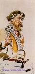 Врубель М.А. Натурщик в корельском костюме. 1883. Бумага, акварель. 11х5,4. ГРМ