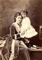 Цесаревна Мария Федоровна с сыном Ники
