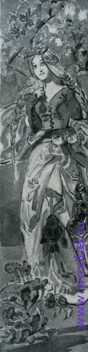 "1896 Врубель М.А. ""Маргарита."""
