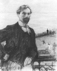 Автопортрет (О. Пастернак, 1911 г., уголь)