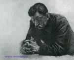 Врубель М.А. Санитар. 1903-1904. Бумага, карандаш. 26,8х37,2. ГТГ