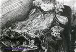 Врубель М.А. Платье. 1900-е. Бумага, карандаш,прессованный уголь. 17,4х25,3. ГТГ