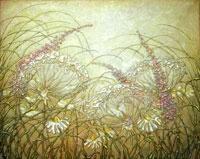 Полевые цветы (В. Лаптева. Холст, масло)