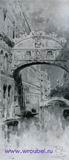 Врубель М.А. Венеция. 1890-е. Мост вздохов. Б. на к., акв. 25,7х1,6. ГТГ