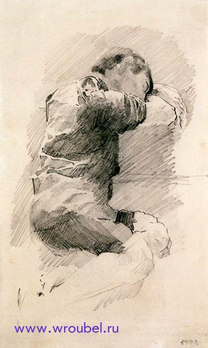 """1886 Врубель М.А. """"Спящий мальчик."""""""