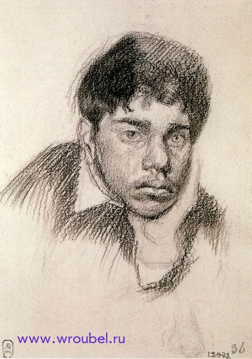 """1884 Врубель М.А. """"Портрет юноши."""""""