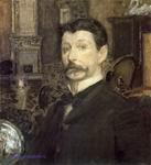 Врубель М.А. Автопортрет. 1905. Бумага, акварель, уголь, гуашь. 58,2х53. ГРМ