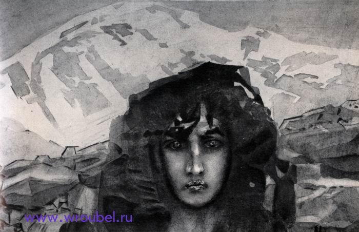 "1890 Врубель М.А. ""Голова Демона."""