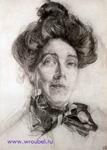 Врубель М.А. Портрет Н.И. Забелы-Врубель. 1904-1905. Бумага, графитный карандаш. 39,5х28,4. ГРМ