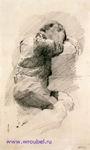 Врубель М.А. Спящий мальчик. 1885-1886. Бумага, графитный карандаш. 19,7х11,7. ГРМ