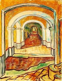 Коридор в Асулуме (В. Ван Гог, гуашь)