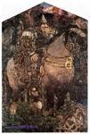 Врубель М.А. Богатырь. 1898. Холст, масло. 321,5х222. ГРМ